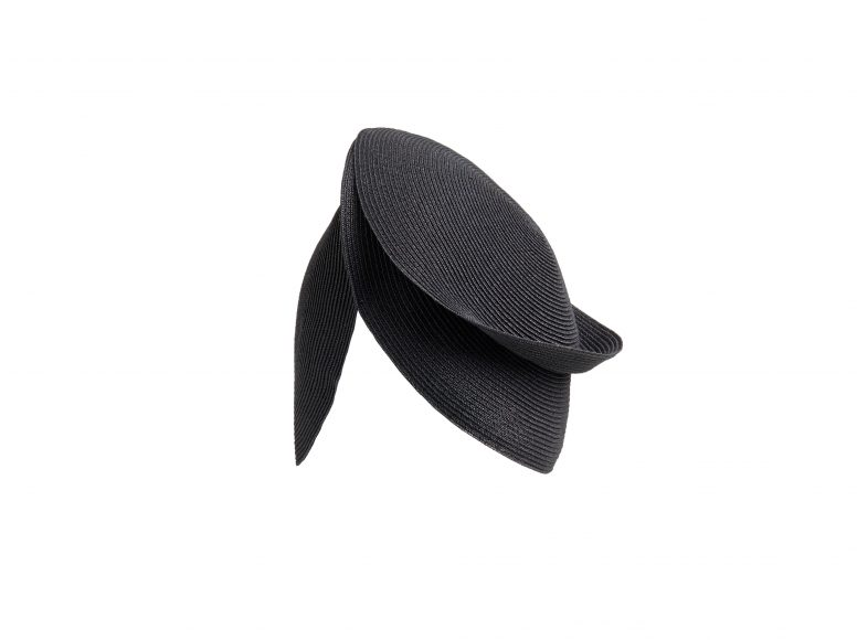 ANTEA B HAT BLACK FLAPPER_GENEVIEVE XHAET SS19