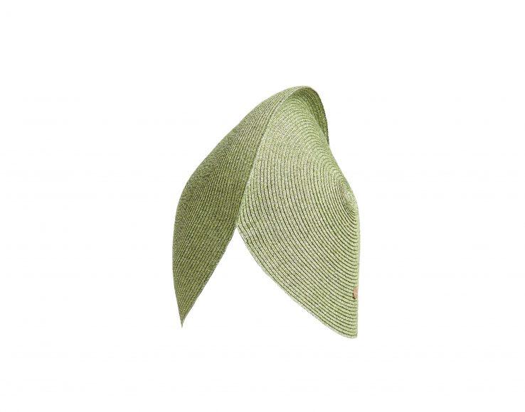 ANTEA HAT PALM GREEN FLAPPER_GENEVIEVE XHAET SS19