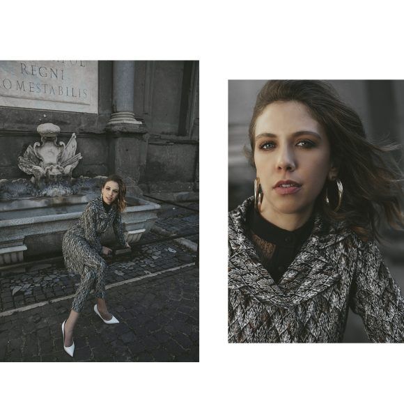 Total look: Missoni | Shirt: Hanny Deep | Shoes: Sergio Rossi | Earrings: vintage