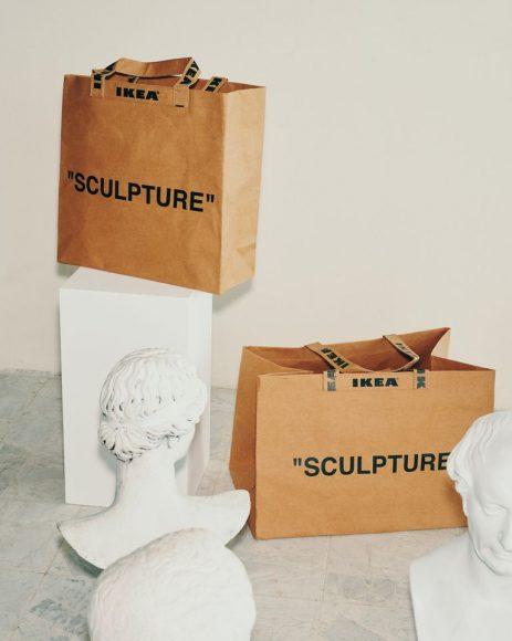 Bag ecosostenibile che ricorda le classiche borse di carta Ikea :Virgil Abloh-Markerad