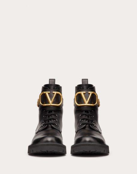 Valentino Go Logo combat boots
