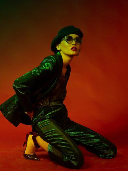 Hat Atome  Jacket Bartolotta e Martorana Top Avant Toi Earring By Gerlando Dispenda Sunglasses By Kime Trouser By Bartolotta e Martorana  Shoes By Cesare Paciotti