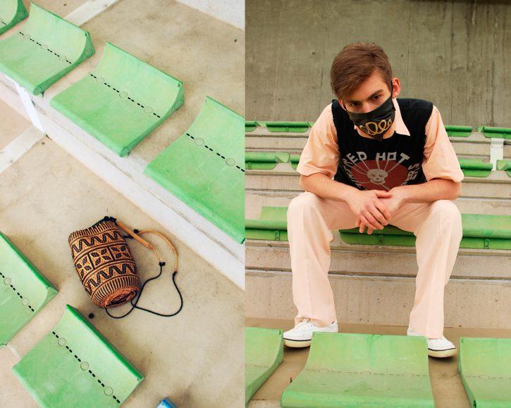 Shirt- Stylist's own T-shirt- Stylist's own Pants- Loro Piana Shoes- Moncler Bag- Stylist's own