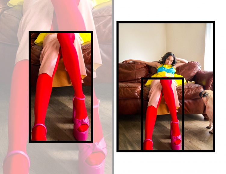 Dress: SOPHIA NUBES  Belt: M.T.S.Z.  Shoes: JF LONDON