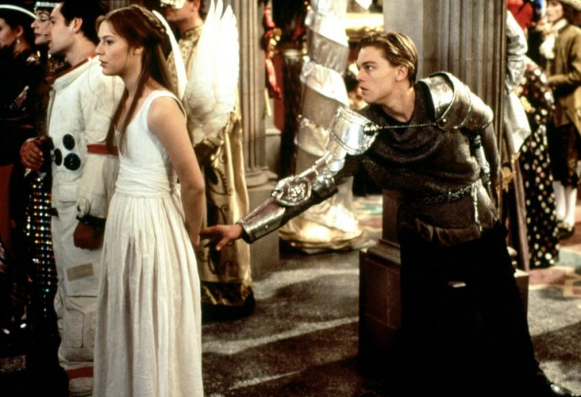 ROMEO AND JULIET, Claire Danes e Leonardo di Caprio, 1996.