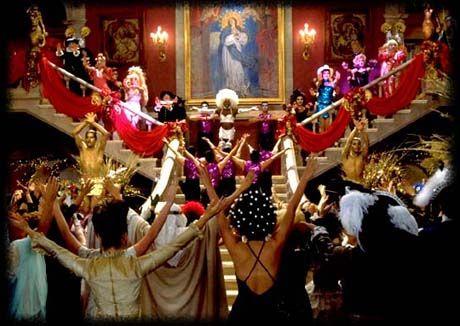 Scena della sfarzosa festa in maschera in casa Capuleti