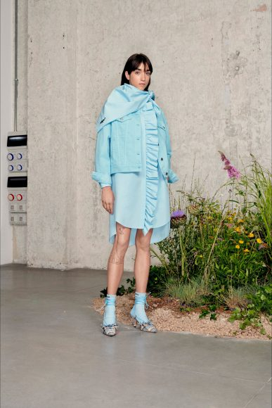 mini dress con giacca di jeans Fashion ShowsPrimavera Estate 2021MSGM