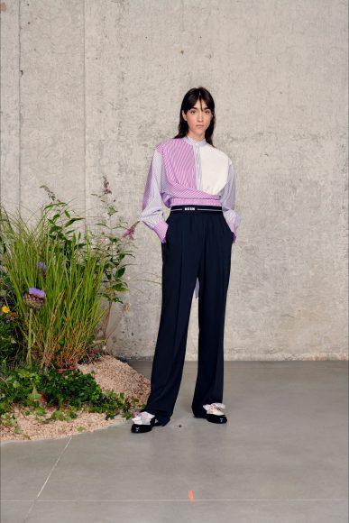 casual pantalone e camicia mixata con shirt Fashion ShowsPrimavera Estate 2021MSGM