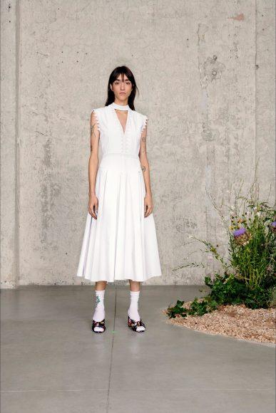 white dress Fashion ShowsPrimavera Estate 2021MSGM