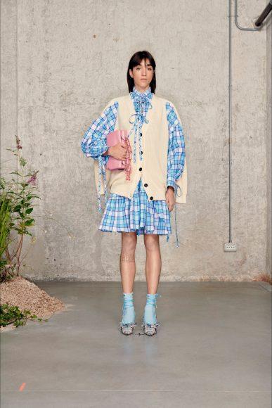 Mini dress tessuto a quadroni Fashion ShowsPrimavera Estate 2021MSGM