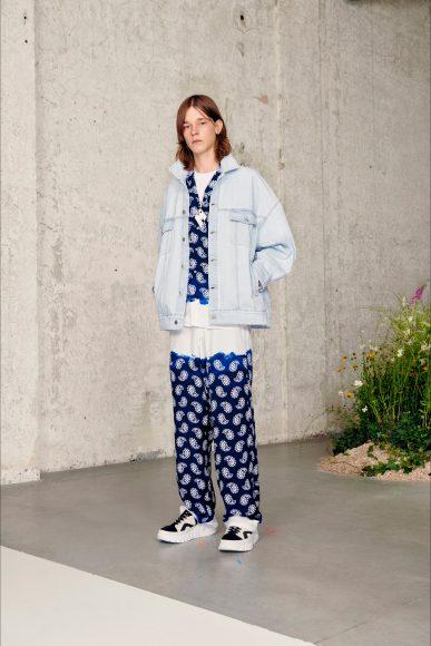 Completo pigiama da giorno con giacca di Jeans Fashion ShowsPrimavera Estate 2021MSGM