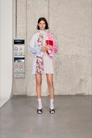 Short dress mix di tessuti Fashion ShowsPrimavera Estate 2021MSGM