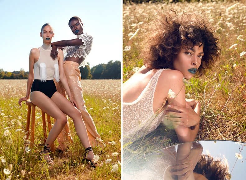 Bodysuit : SEYIT ARES Panties : GIVENCHY Shoes : EMMANUEL UNGARO Chocker necklace : SEYIT ARES Crop Top : ETIENNE JEANSON Pants : RAHUL MISHRA Dress : ETIENNE JEANSON