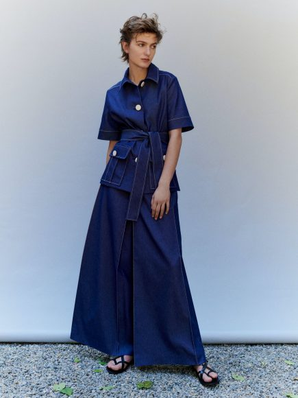 Mila Schön  long dress blu denim S/S  2021.
