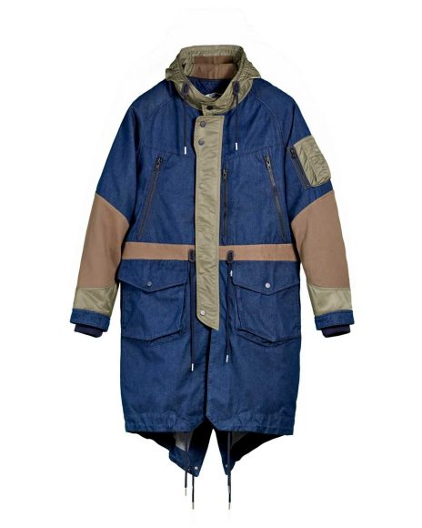 LEVI'S MADE AND CRAFTED x White Mountaineering , Parka a coda