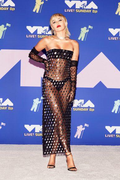 Miley Cyrus (in Mugler)