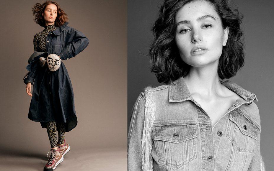 salopette and bag monosuit jeans dress : besfxxk basket : guess jacket jeans : guess gilet wool : weer