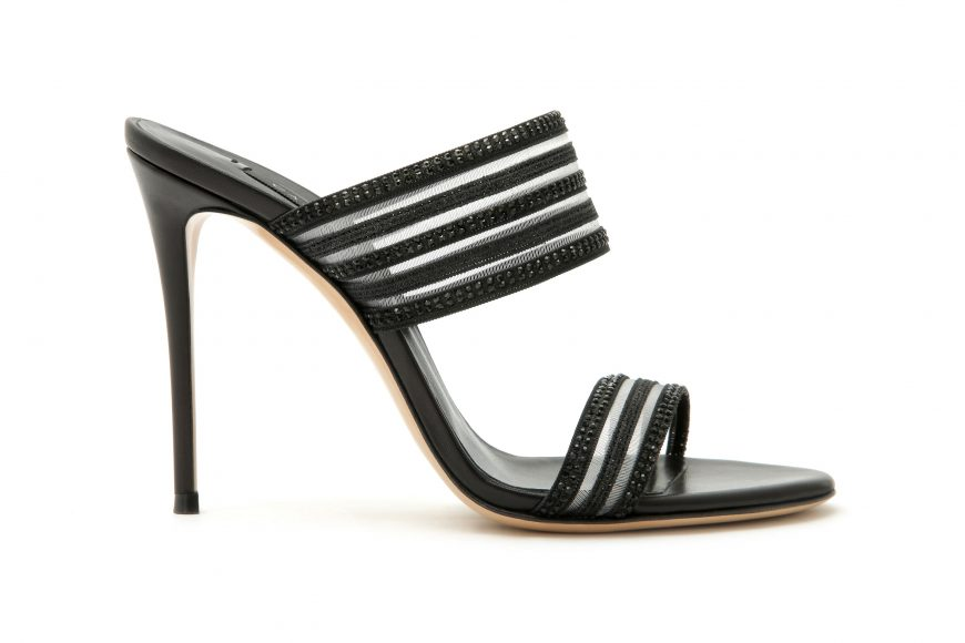 CASADEI SS 2021 VENUS PLANET MULE GLASS+NERO