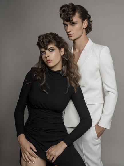 him: suit Saint Laurent her: dress Alexandre Vaughtier