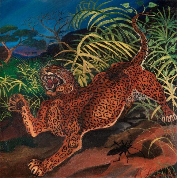 Antonio-Ligabue-Leopardo-nella-foresta-1956-57.-Collezione-privata