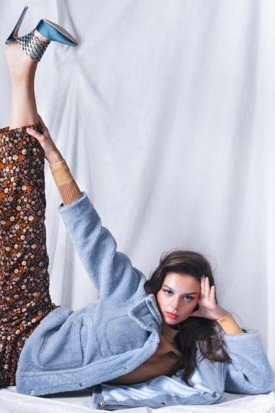Jacket Max et Moi  Trousser & Knitwear Scotch & Soda  Shoes Maya Lakis