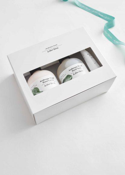& Other Stories Belsize Beat Hand Care kit Il kit per prendersi cura delle mani avvolgendole di una vivace fragranza in cui la croccantezza della mela incontra la profondità del sandalo indonesiano. Include Hand Lotion, Hand Soap e Hand Cream. Prezzo al pubblico: 19 €