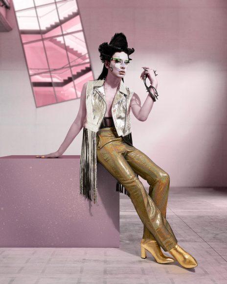 leather jacket : collini corset : cadolle trouser : collini shoes : collini
