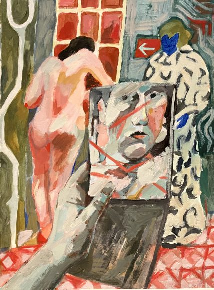 Katy Papineau, Changing Room, Pigment on paper, 35.5 x 25.5cm,