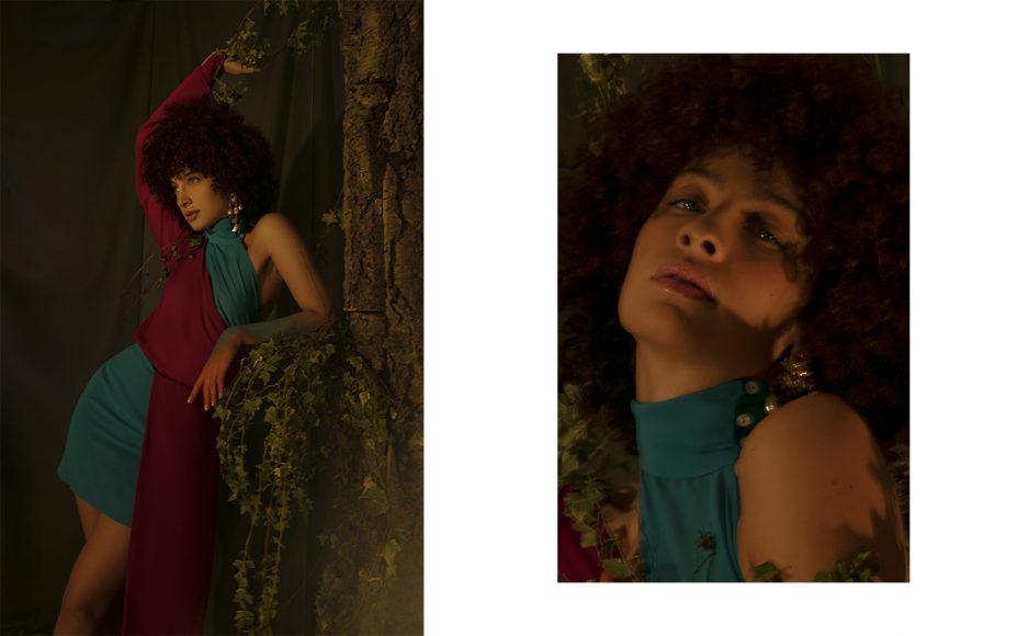 Dress: Sara Latella  Shoes: The Attico Earring: Zara