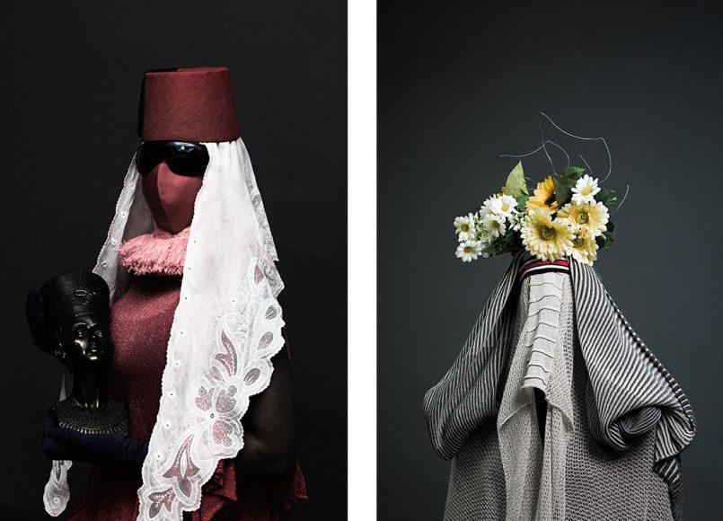 dress ESTER FERRANDO hat STYLIST OWN scarf ALVARO MARS Total Look ESTER FERRANDO