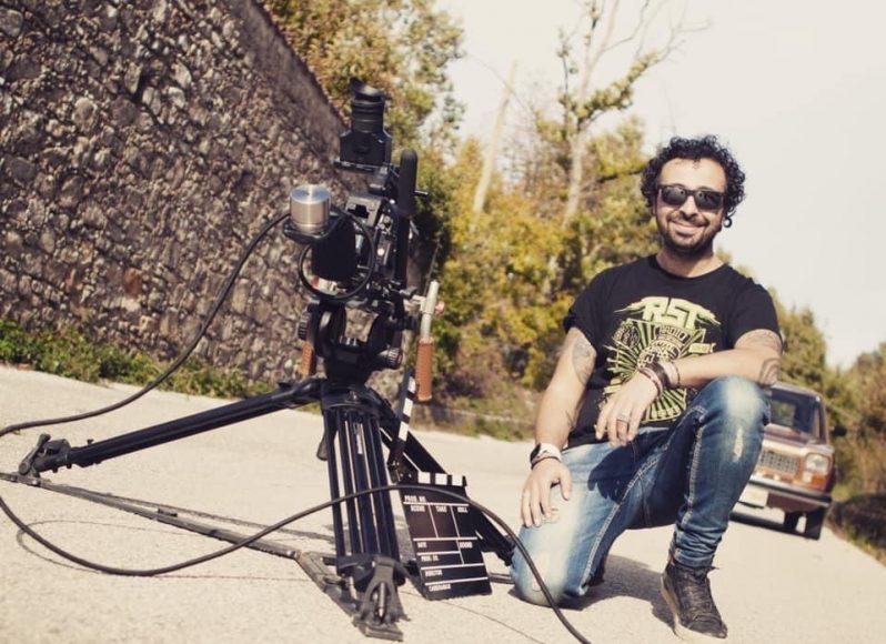 Il regista Luigi Scarpa sul set del cortometraggio Malum Aeterni