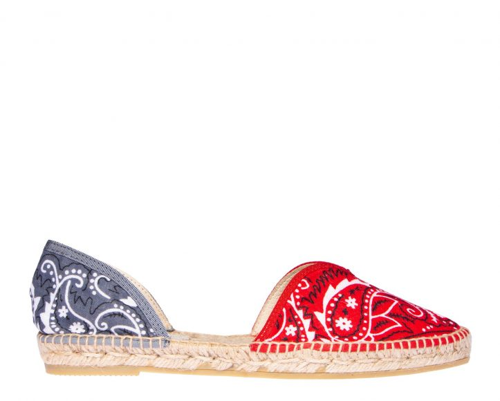 MANEBI Open_Side_Bandana_Red_Grey_1_Manebi_Espadrilles