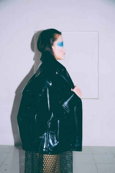 Jacket: Helene Berman Dress: Jijil Earrings: UNOde50