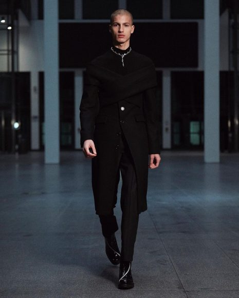 Model n.2, GMBH Menswear Fall Winter 2021-2022 show as part of PFW on January, in France