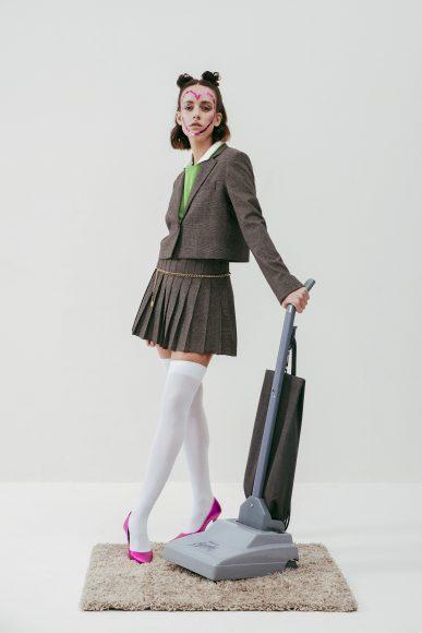 -Polo (Marine Serre) -Co-ord set (Zara) -Cintura (Vintage Chanel) -Pumps (Zara)