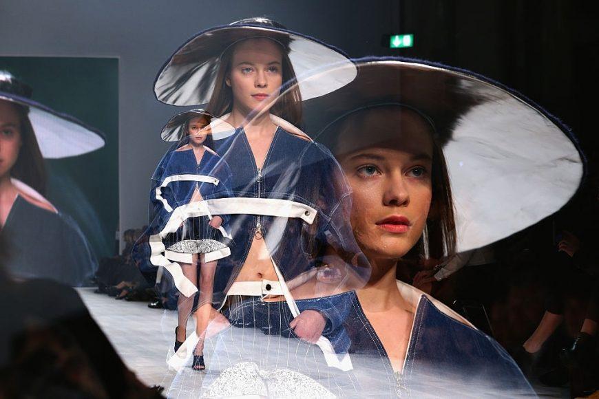 A model at the Julia Seemann fashion show in the Mercedes Benz Fashion Days Zurich 2014 on November, Zurich