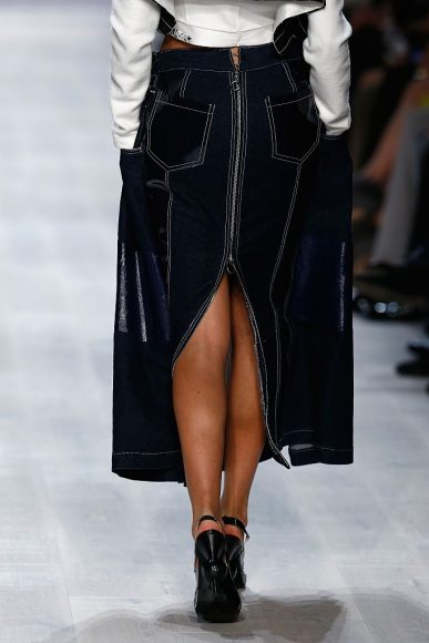 A model detail, at the Julia Seemann fashion show in the Mercedes Benz Fashion Days on November, 2014, Zurich
