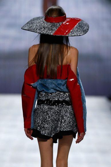 A model detail, walks, at the Julia Seemann fashion show during Mercedes Benz Fashion Days Zurich on November, 2014, in Zurich
