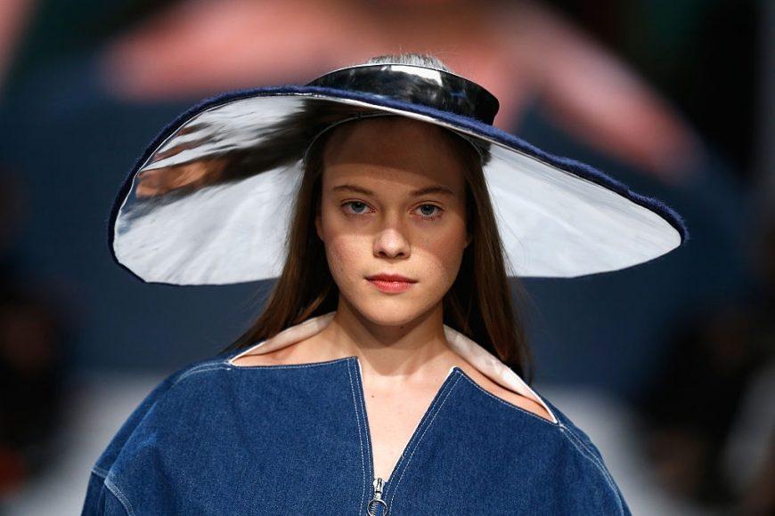 A model detail walks, at the Julia Seemann fashion show in the Mercedes Benz Fashion Days Zurich on November