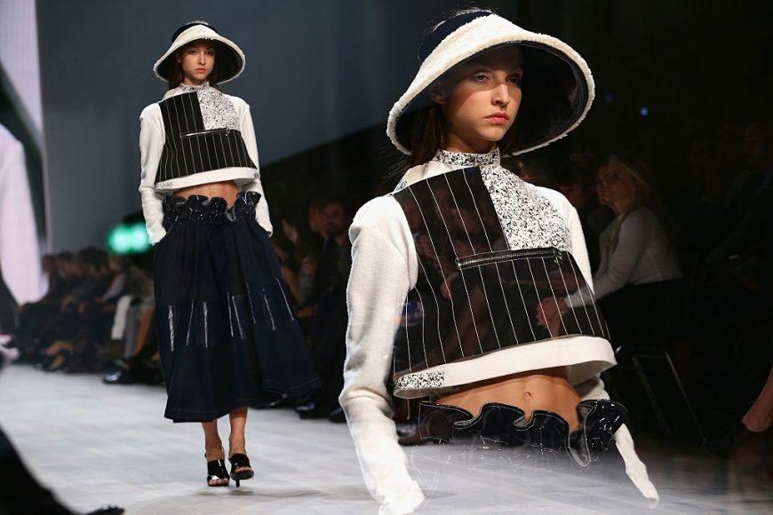 A model walks at the Julia Seemann fashion show during the Mercedes Benz Fashion Days on November, 2014 in Zurich