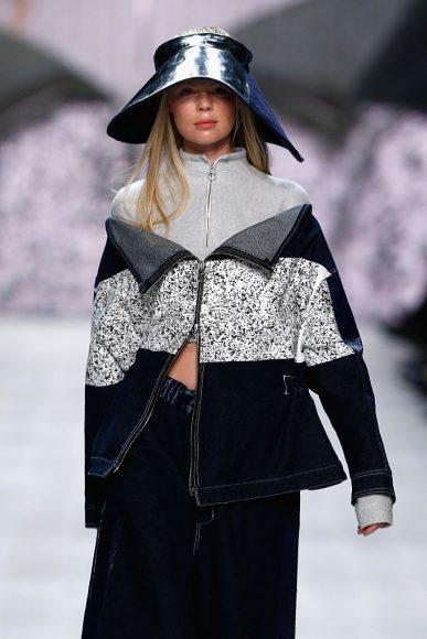 A model walks the runway at the Julia Seemann fashion show in the Mercedes Benz Fashion Days Zurich 2014 on November, Zurich