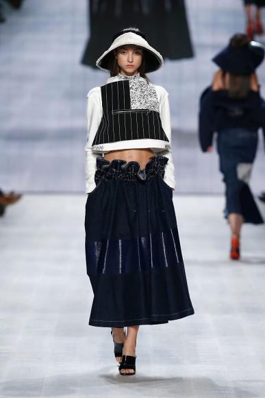 A model walks the runway at the Julia Seemann show during the Mercedes Benz Fashion Days Zurich 2014 on November, 2014 in Zurich