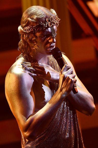 Achille Lauro during the 71th Sanremo Music Festival at Teatro Ariston on March 04, 2021