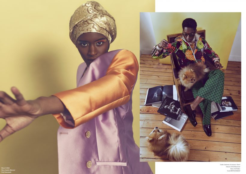 Blazer Collini Dress Sandra Mansour Scarf homemade  Jacket, knitwear & trousser Gucci Glasses G.O.D Eyewear Shoes G.H. Bass Scarf DINNANGELO