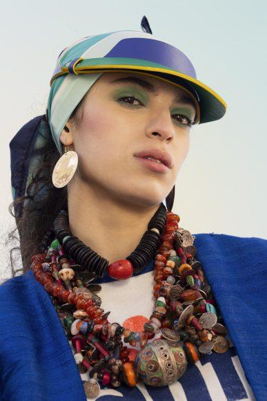 Tshirt Adidas  Earrings & Necklace Alice Hubert  Scarf Gucci  Visor Etablissement Pardi  Kimono Damir Doma
