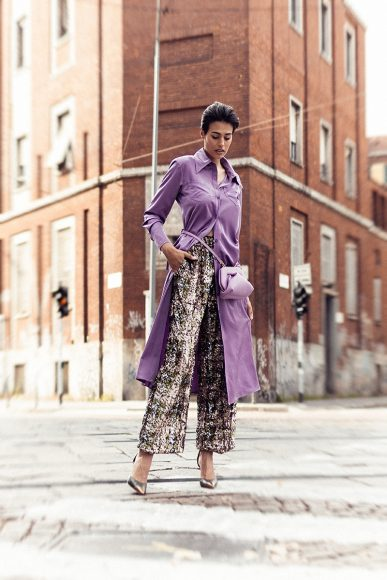 Shirt and pants WEILI ZHENG Shoes RICAGNO Bag THEMOIRE'
