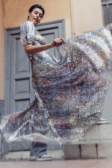 Dress LUISA BECCARIA Jeans BEATRICE B Shoes NIKE JORDAN