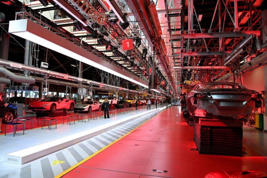 Fashion debut of Ferrari collection at Ferrari Factory