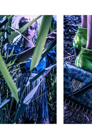 Minidress: GIORGIA  ARCIDIACONO Cintura con frange  borsa e scarpe: COLLINI