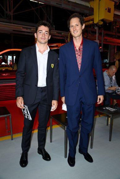 Ferrari Fashion Collection Runway  Arrivals - Charles Leclerc and John Elkann